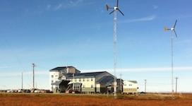 Three Excel 10S turbines on 80' GL towers.